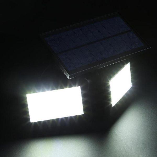 lampe double projecteur solaire orientable puissante