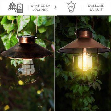 lampe exterieur suspendue solaire PUISSANTE 1