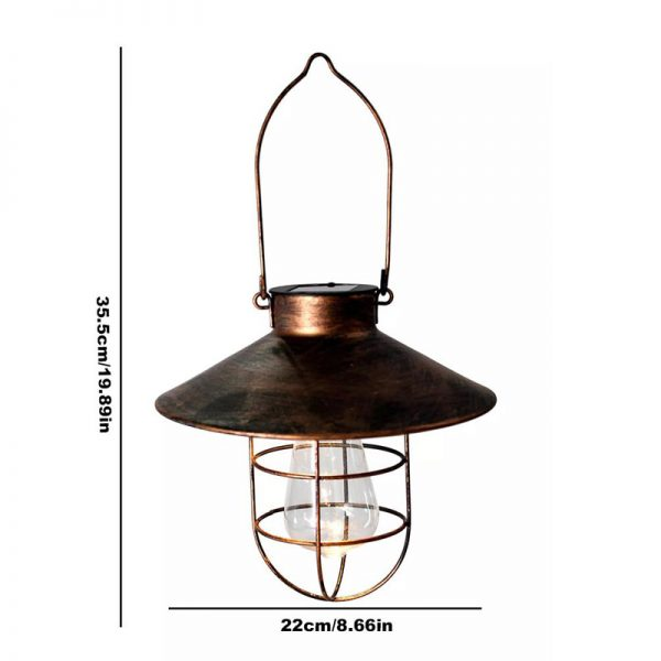 lampe exterieur suspendue solaire vintage