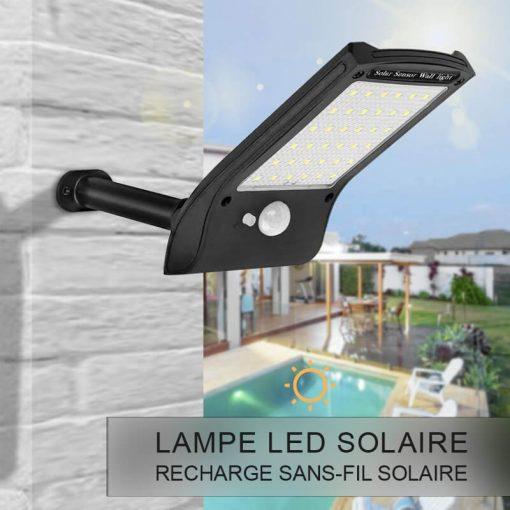 lampe led solaire avec détecteur extérieur