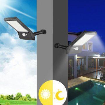lampe LED solaire avec détecteur terrasse