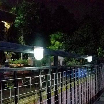 lampe murale solaire jardin cloture