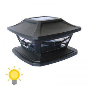 lampe solaire à poser sur poteau
