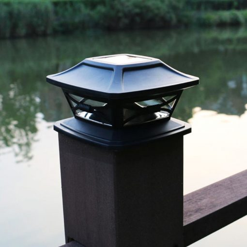 lampe solaire a poser sur poteau extérieur