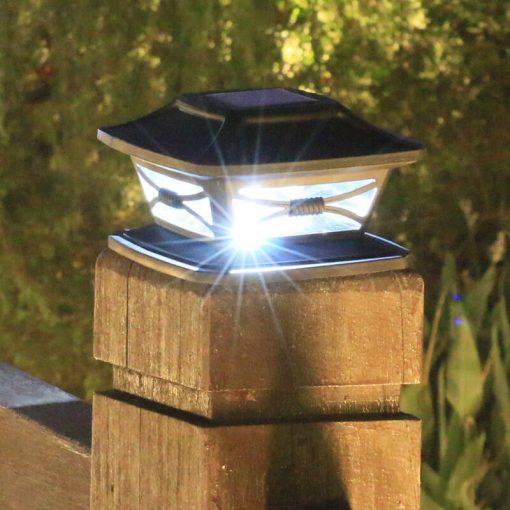 lampe solaire a poser sur poteau pas cher 1