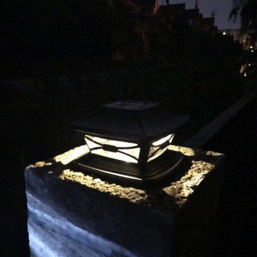 lampe solaire a poser sur poteau puissant
