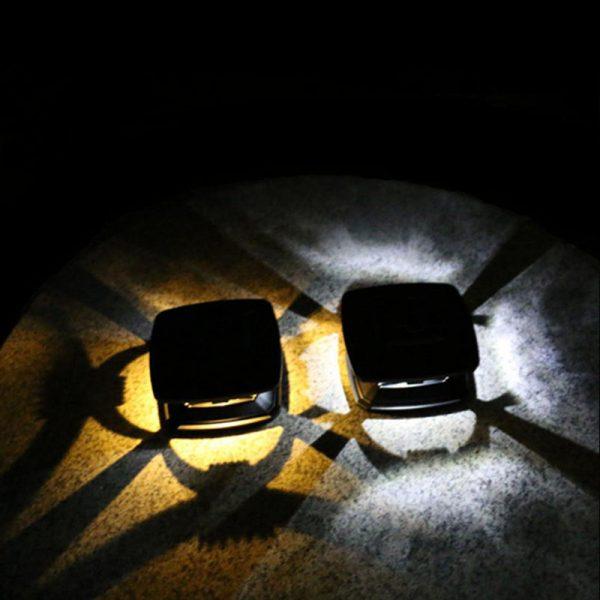 lampe solaire à poser sur poteau terrasse