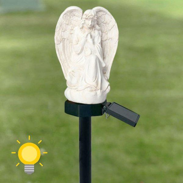 lampe solaire ange jardin