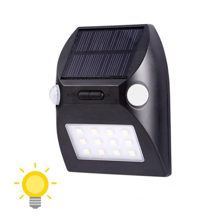 lampe solaire avec detecteur de mouvement double