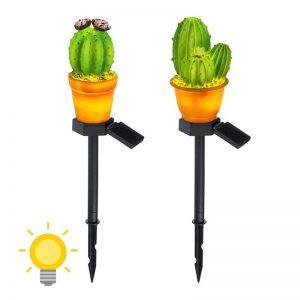 lampe solaire cactus