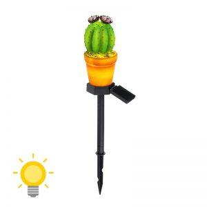 lampe solaire cactus lumineux