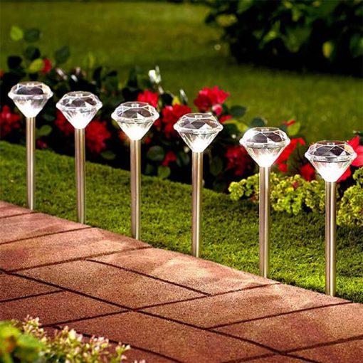 lampe solaire diamant exterieur