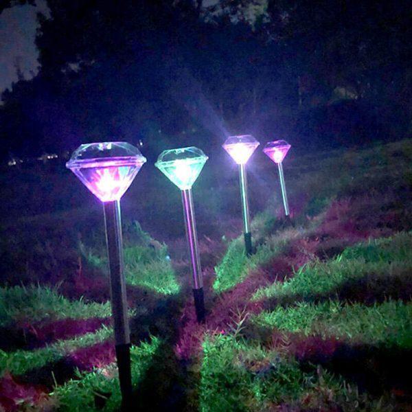 lampe solaire diamant led