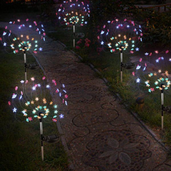 lampe solaire jardin couleur led