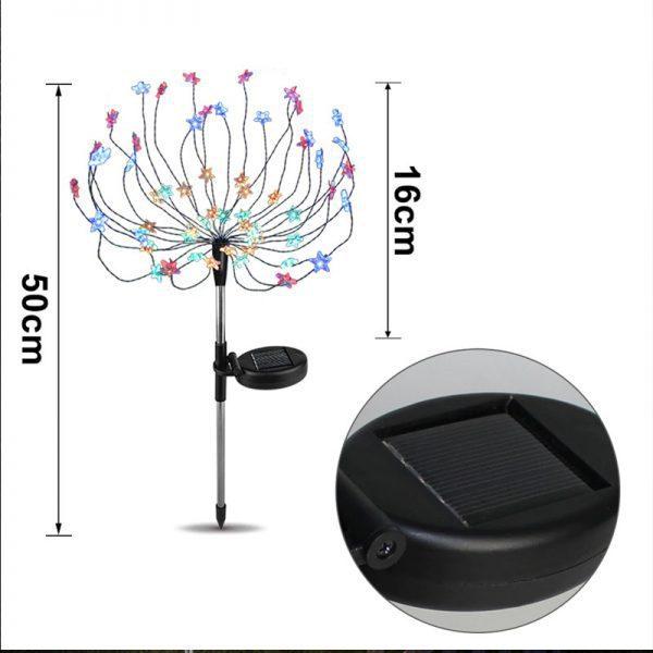 lampe solaire jardin couleur pas cher