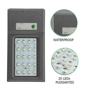lampe solaire puissante avec detecteur EXTERIEUR