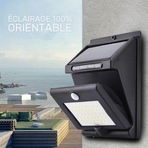 lampe solaire rotative led