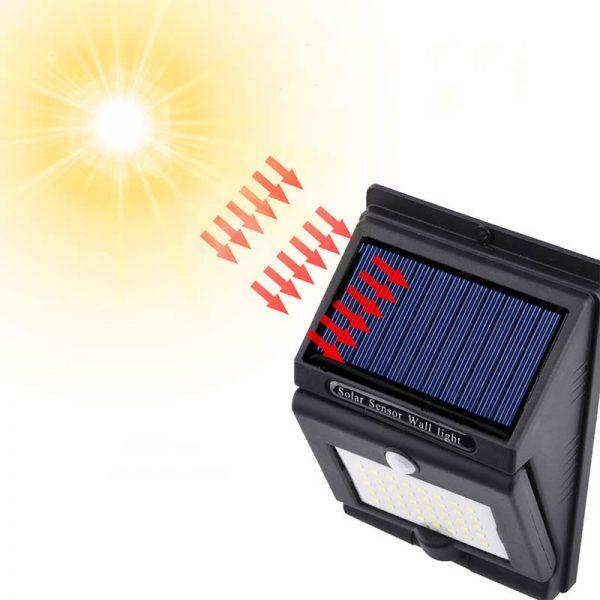 lampe solaire rotative puissante