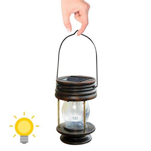 lanterne solaire a poser ou a suspendre jardin