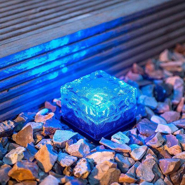 pave solaire bleu led
