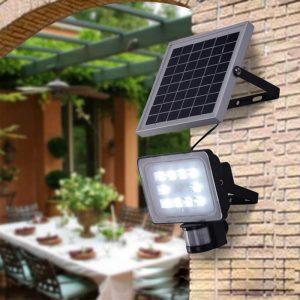 projecteur exterieur solaire haute puissance led