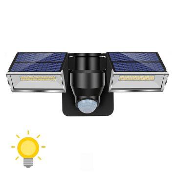 projecteur led solaire double