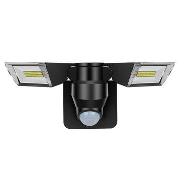 projecteur led solaire double detecteur de mouvement