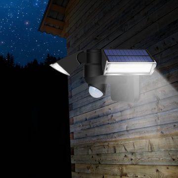 projecteur led solaire double exterieur