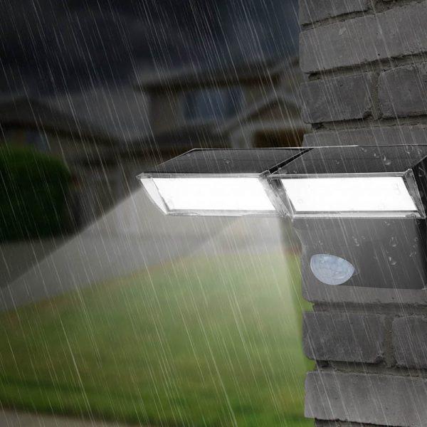 projecteur led solaire double jardin
