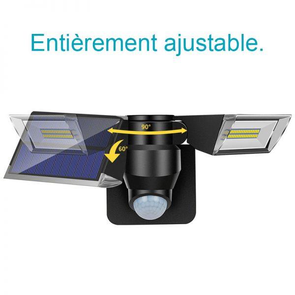 projecteur led solaire double orientable