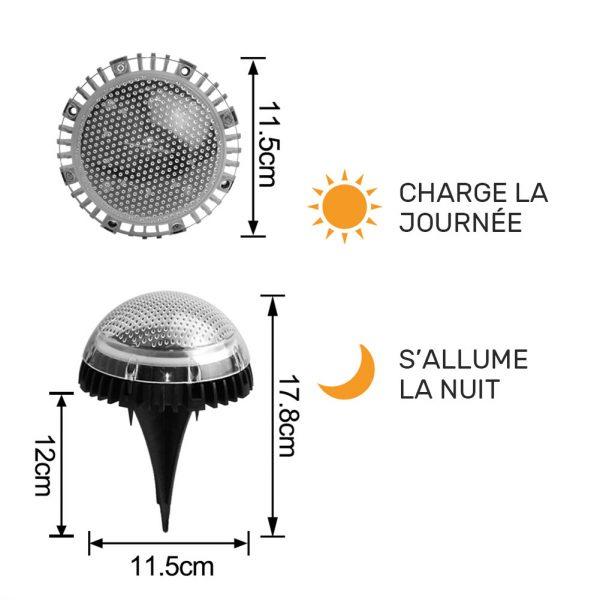 spot encastrable solaire jardin EXTÉRIEUR