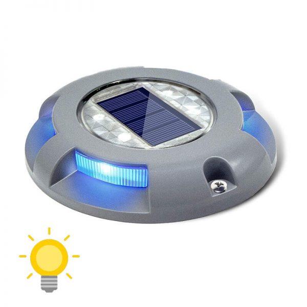 spot solaire éclairage bleu