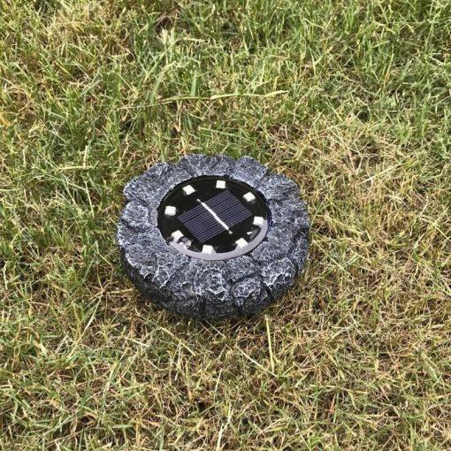 spot solaire forme rocher LED