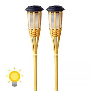torche solaire bambou jardin
