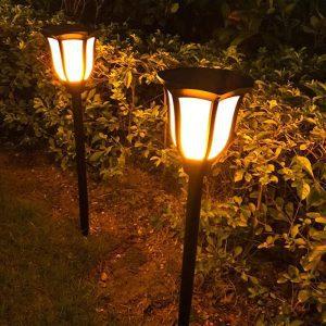 torche solaire pour jardin effet flamme