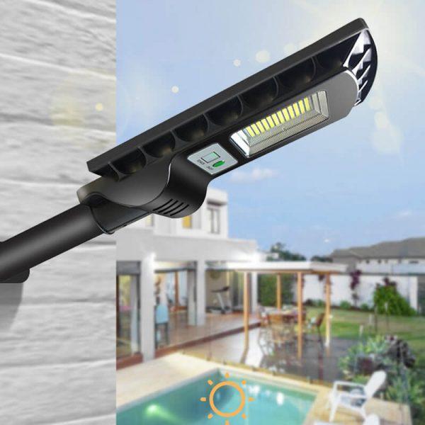 Lampe extérieur LED solaire avec détecteur de mouvement jardin