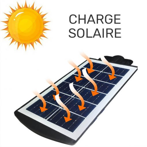 Lampe extérieur LED solaire avec détecteur de mouvement puissant