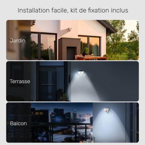 applique exterieur led avec detecteur de mouvement solaire jardin