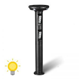 borne solaire jardin detecteur mouvement