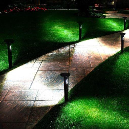 borne solaire jardin detecteur mouvement LED