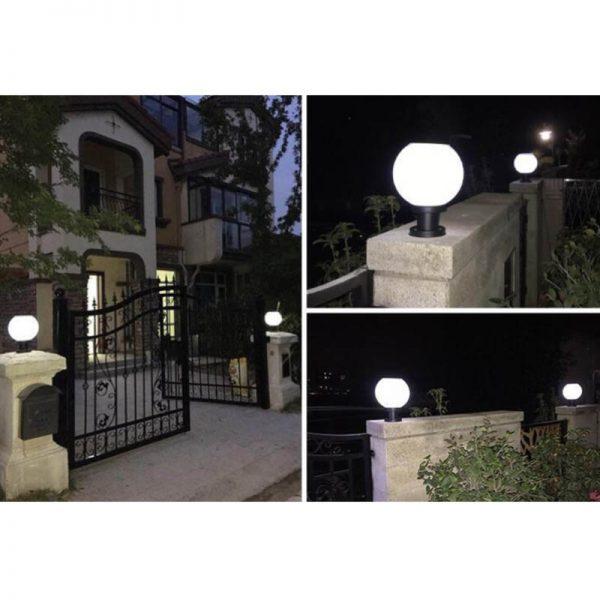 boule eclairage exterieur solaire jardin