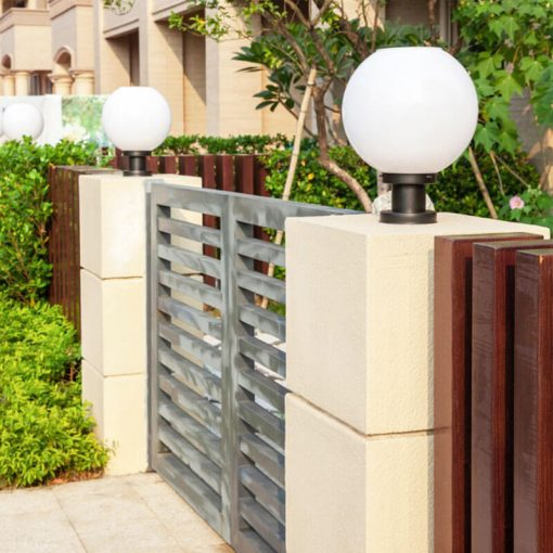 boule eclairage exterieur solaire led