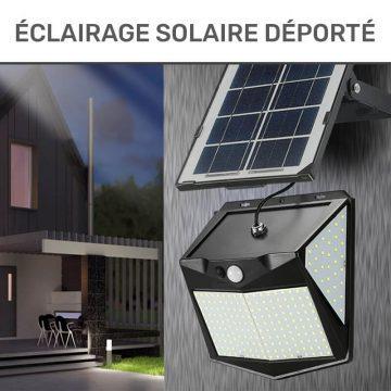 eclairage solaire déporté jardin