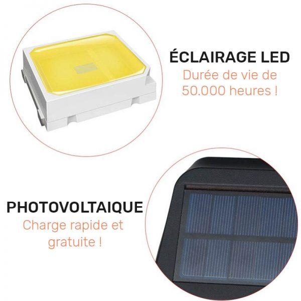 eclairage solaire exterieur avec detecteur led