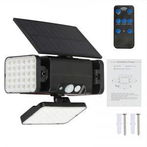 eclairage solaire exterieur avec telecommande puissant