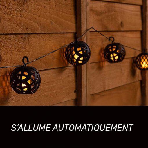 guirlande lanterne solaire LED