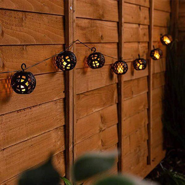 guirlande lanterne solaire jardin