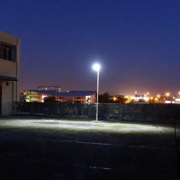 lampadaire solaire avec detecteur mouvement puissant