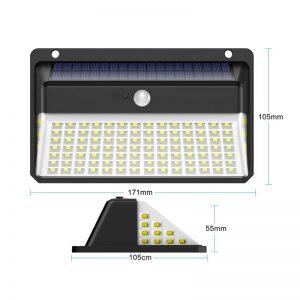 lampe avec capteur solaire dimensions