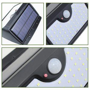 lampe d entree solaire avec detecteurs de mouvements led